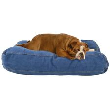 Pet Cat Dog Bed Rectangle Denim Cushion Mattress 90 X 60 X 12CM