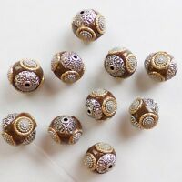 10pcs Beautiful Rare Earth & Tibet silver  Spacer Beads GSAM1389