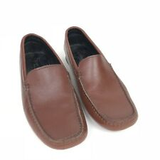 Fieramosca & Co Womens Brown Leather Slip On Moccasin Loafer Shoe Size 7