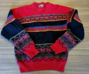 Pendleton Mens Small Vintage Aztec Native Tribal Pattern Wool Crewneck Sweater