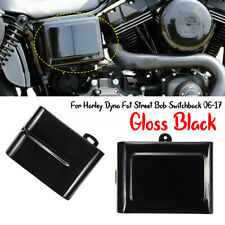 Left Glossy Black Battery Cover For Harley Dyna Fat Street Bob Super Glide