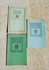 3 Us Naval Academy Booklets-1926 Regs for Admission-1917-27 & 18-27 Exam Papers