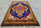 Authentic Hand Knotted Vintage Turkish Wool Area Rug 3 x 2 Ft (11282 KBN)
