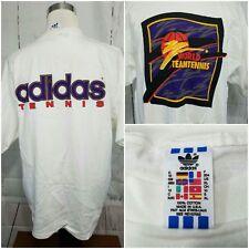 Vintage 80s 90s Tennis Adidas Big Logo Shirt Size XL New Old Stock