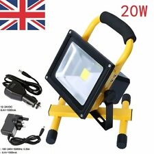 20W Flood Light Portable Rechargeable LED Work Site Light Camping Car Charger
