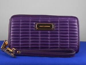 Juicy Couture Aubergine Purple NOUVELLE POP NYLON Tech Wristlet Wallet WSG47