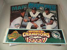 Florida Marlins Magazines Plus 1997 Marlins World Champions Bumper Sticker