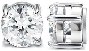Magnetic Earrings Crystal Ear Stud Magnet Mens Womens 10mm No Piercing