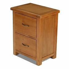 Rushden solid oak furniture two drawer office storage filing cabinet