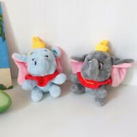 12cm Cute Stuffed Animal Plush Toys Small Pendant Cartoon Elephant Key Chain ES