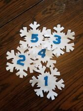 Snowflake flannel Board Rhyme pieces