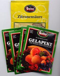 Gelapekt-Set zur Konfitüren- und Geleeherstellung Pack mit 5 Beuteln     #5951/S