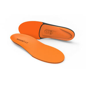 New Superfeet ORANGE Insole Arch Support Orthotic Shoe Insert Size C D E F G H