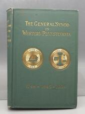 Vintage The General Synod In Western Pennsylvania Lutheran Church Burgess