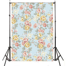 LB  Vintage Floral Vinyl Backdrop Photography Flower Background Prop 5X7FT YL03