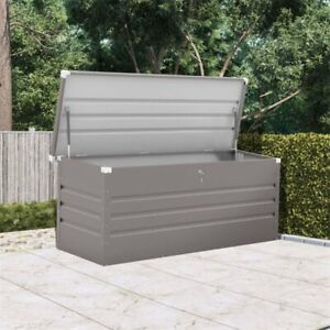 Extra Large Outdoor Metal Garden Storage Box With Lock System Deck Cushion Store