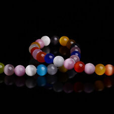 50Pcs Colorful Cat Eye Gemstone Loose Beads Jewelry 4MM Findings DIY New