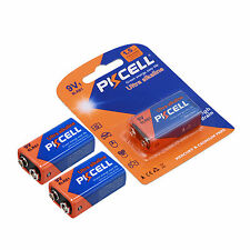 3 x PKCELL 9V Battery 6LR61 1604A EN22 MN1604 Alkaline Batteries For Smoke Alarm