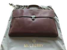 """MULBERRY """"FARRINGDON"""" PUSH LOCK MEN'S BRIEFCASE BNWT AND DUST BAG. £650"""