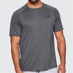 Under Armour Streaker 2.0 Short Sleeve Mens Running Gym Top - Graphite Size L