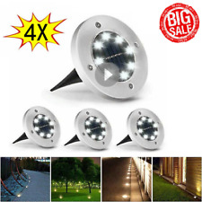 4 x Solar Power Led Ground Lights Floor Decking Patio Outdoor Garden Lawn Path
