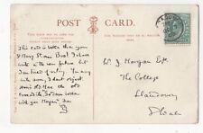 Mr WJ Morgan The College Llandovery Carmarthenshire 27 Aug 1903 832b