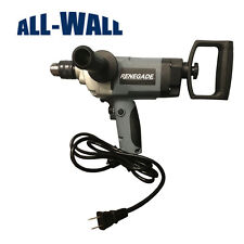 "Renegade 1/2"" Drywall Mud Mixing Drill w/Rear and Side Handles - Mortar, Thinset"