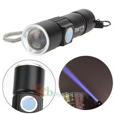 800LM CREE Q5 LED Torch Zoomable Waterproof USB Rechargeable Flashlight Torch