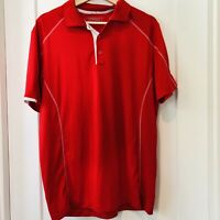 Nike Dri Fit Golf Tour Performance Golf Polo Shirt Red Short Sleeve Size M Mens
