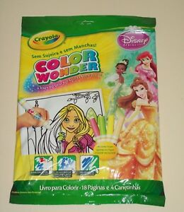 Crayola Disney Princess Color Wonder 18 Pages / 4 Markers Spanish Espanol