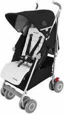 Maclaren Techno XLR Baby Umbrella Fold Single Stroller Black/Silver NEW