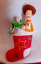 Hallmark Keepsake Ornament Buzz & Woody Christmas Stocking Toy Story Disney 2011