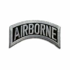 Embroidered Airborne Small Rocker Sew or Iron on Patch Biker Patch