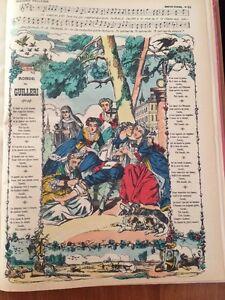 ENFANTINA. CHANSON.Image D'Épinal Fin XIXème. Ronde De Guilleri.