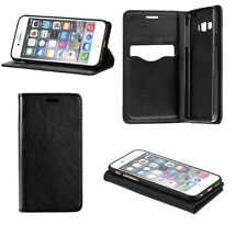 ^ Klapp Hülle Book Case Cover SMART MAGNET Apple iPhone 5/5S/5G SCHWARZ GLATT