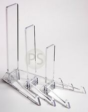 "Clear Vertical Display Stand : Small 4"", Medium 7""  & Large 10"" : Plate, Picture"
