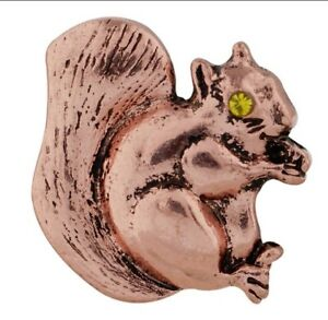 Copper Squirrel Yellow Rhinestone Eyes 20mm Snap Charm For Ginger Snaps
