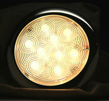 """MARINE BOAT RV TRAILER TRUCK LED BRIGHT SLIM CEILING LIGHT STAINLESS STEEL 5.2""""D"""