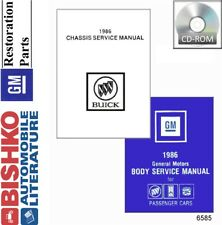1986 Buick Regal T Type Shop Service Repair Manual CD