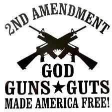 2ND Amendment - Window sticker Car/RV/Hunting/Outdoor/Guns/Shooting Vinyl Decal