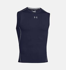 Mens Under Armour Compression Shirt HeatGear Armour Sleeveless Top 1257469 NEW