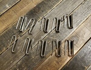 New Set 12 Pottery Barn Drapery Hooks 1.5 Inch Silver Color Metal Slide Pin On