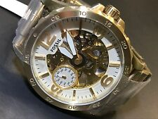 NEW Fossil NATE Mechanical Oversize 50mm Gold Skeleton Stainless Watch ME3150