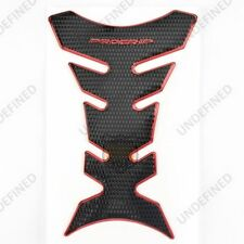 Chrome Red Motorcycle Oil Gas Fuel Tank Pad Protector Fairing Sticker Decal B