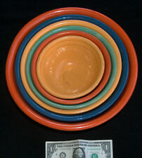 """(6) VTG 1930's BAUER LOS ANGELES Ring Ware RARE Nesting Pottery Bowls 5.5""""-11"""""""