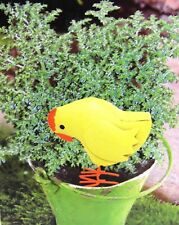 CHICK Metal plant stake YARD ART fairy garden potted plant Chicken