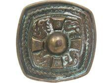 Aztec Brass Antique Finish Decorative Belt Buckle