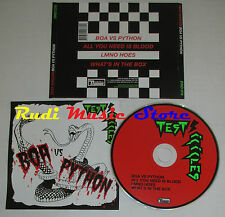 CD Singolo TEST INCICLES Boa vs python 2005 usa DOMINO DNO 076 (S2) mc dvd