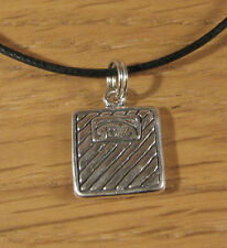 Weight Scale Charm Pendant Necklace .925 Sterling Silver USA Made Fitness Gift
