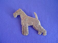 Wirehaired Fox Terrier pin Standing #39B Pewter Dog Jewelry by Cindy A. Conter